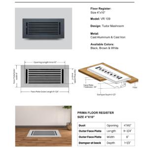 Cast-Aluminum-Floor-Register-4″-X-10″-VR-109