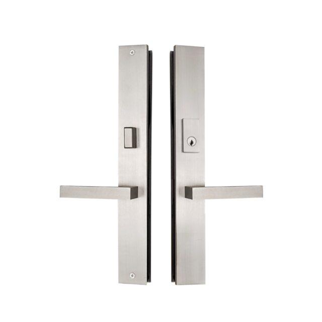 Multi-point-lock-trim-set-Brass-16x2-Lucca-Satin-Nickel_MP-1602-LUCCA-BLK-AK-LH