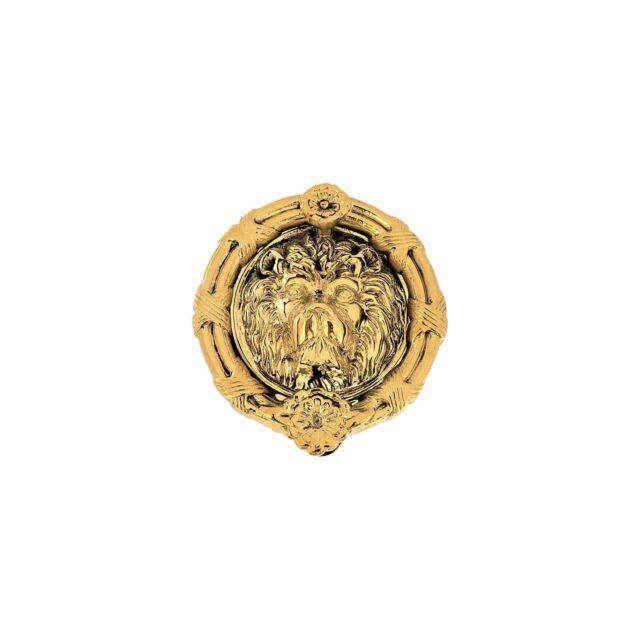 Door-Knocker-Lion's-Head-8-Polished-Brass