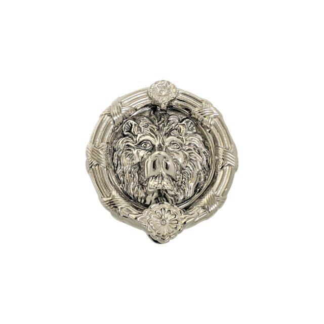 Door-Knocker-Lion's-Head-8-Polished-Nickel