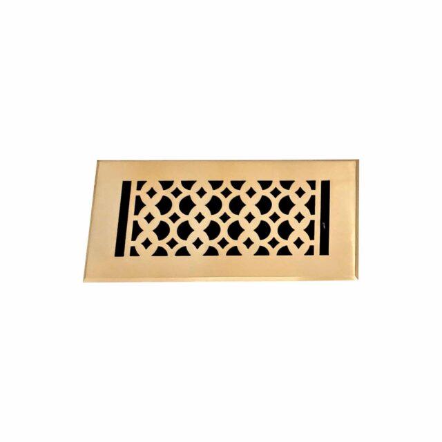 Cast-Aluminum-Floor-Register-4-X-10-VR-100-Brushed-Gold-1