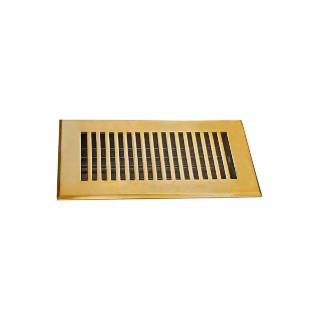 Cast-Aluminum-Floor-Register-4-X-10-VR-102-Brushed-Gold