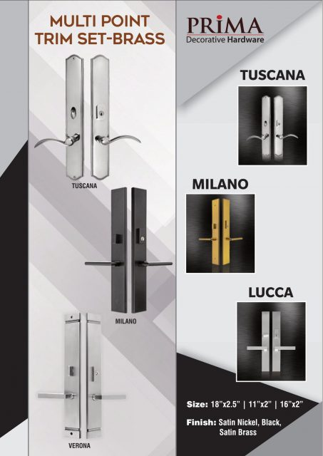 Multipoint lock trim
