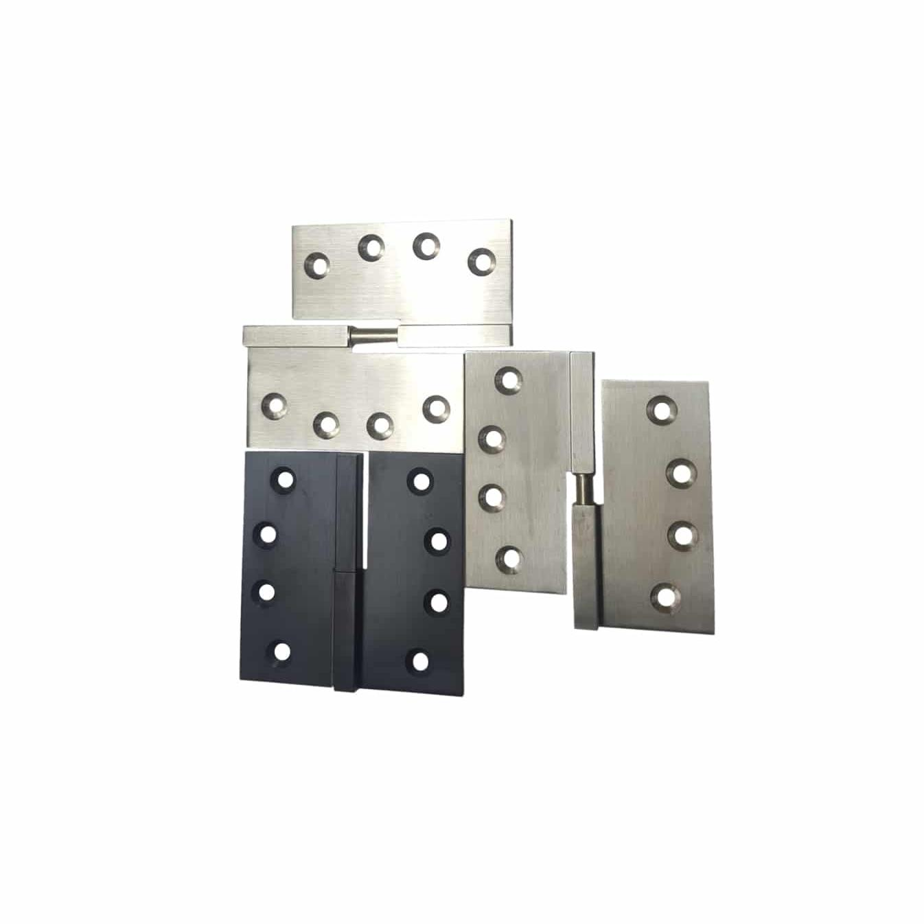 Brass Chrome Lift Off Square Hinges Solid