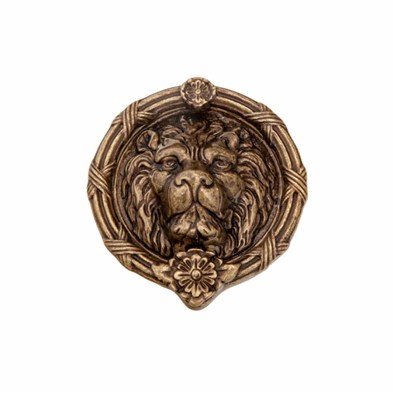 Brass Lions Head Door Knocker 8 101 Abd
